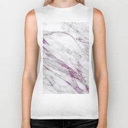 Gray and Ultra Violet Marble Agate Biker Tank