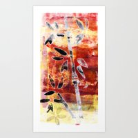 bamboo Art Prints featuring bamboo by Kras Arts - Fly Me To The Moon