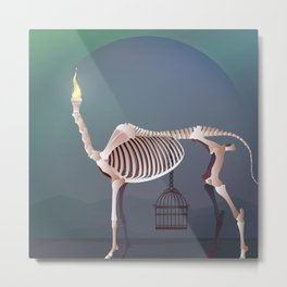 the flame and the grudge Metal Print