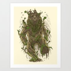 Treebear Art Print