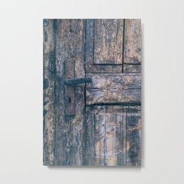 Weathered Wooden Door Metal Print