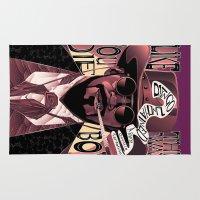 django Area & Throw Rugs featuring Django Poster by eos vector