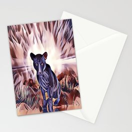 Black Panther Fire Cat Stationery Cards