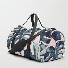 Tropical Monstera Leaves Dream #3 #tropical #decor #art #society6 Duffle Bag
