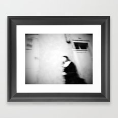 I follow you in the street, sometimes. Framed Art Print