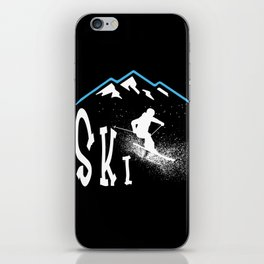 Downhil Skiing iPhone Skin