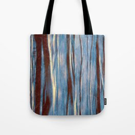 Dawn in the Winter Forest #impressionism #abstract #moods #society6 Tote Bag