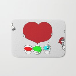 Figure out the color of my heart - RGB mode Bath Mat