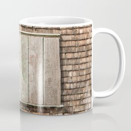 Old Wooden Wall with Shutter Coffee Mug