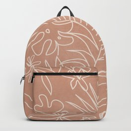 Engraved Tropical Line Backpack