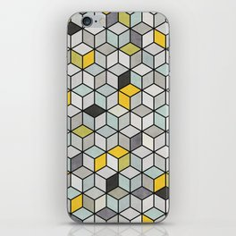 Colorful Concrete Cubes - Yellow, Blue, Grey iPhone Skin