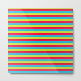 funny stripes colorful pattern Metal Print