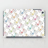 bicycles iPad Cases featuring Rainbow Bicycles by Nicole Alesi