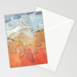 Blue and Orange Merger Stationery Cards