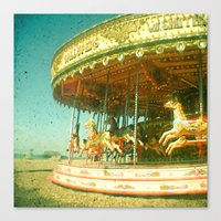carousel Canvas Prints featuring Carousel by Cassia Beck