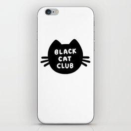 Black Cat Club iPhone Skin