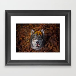 Happy Autumn Framed Art Print