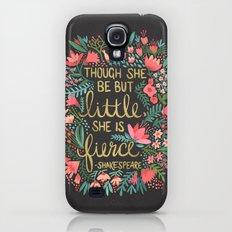 Little & Fierce on Charcoal Slim Case Galaxy S4