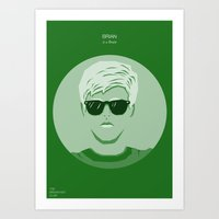 breakfast club Art Prints featuring The Breakfast Club - Brian by Pri Floriano