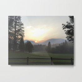 Edge of Six Rivers National Forest from Etna, CA Metal Print