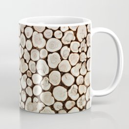 Background of wooden slices tree Coffee Mug