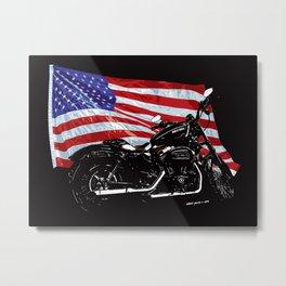 DARK HARLEY SPORTSTER MOTORCYCLE Metal Print