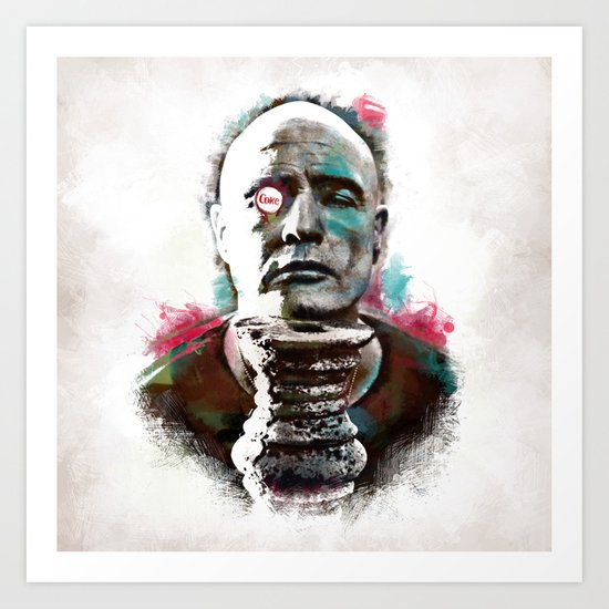 Marlon Brando under brushes effects Art Print