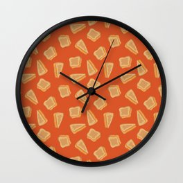 Grilled Cheese Print Wall Clock