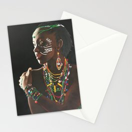 African Potrait II Stationery Cards