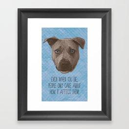 Pit Bull Print Framed Art Print