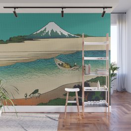 Tama River and Mount Fuji Wall Mural