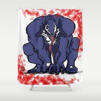 venom Shower Curtains featuring Venom by Iron King