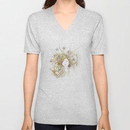 Autumn Poppy Fairy Unisex V-Neck