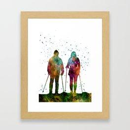 Traveling as a couple, couple, couple traveling, traveler Framed Art Print