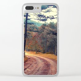 in the wood Clear iPhone Case
