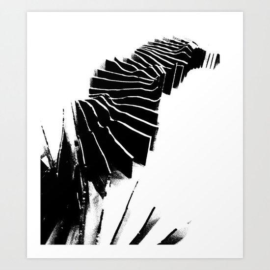 Landscape model sections Art Print