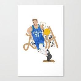 Doncic X Mavericks Illustration Canvas Print