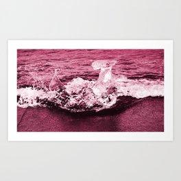 red ice. Art Print