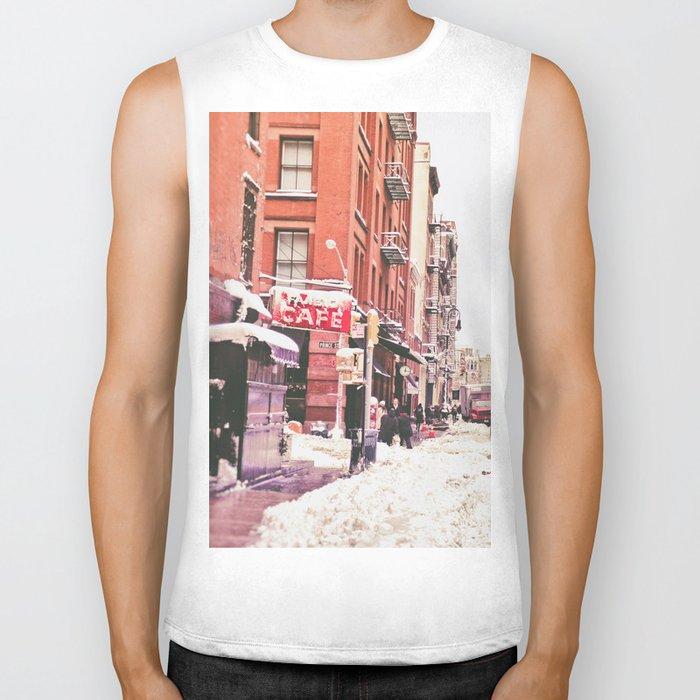 New York City Snow Soho Biker Tank
