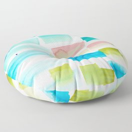 12     190304 Watercolour Painting Abstract Pattern Floor Pillow
