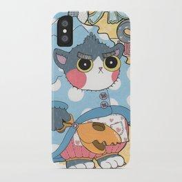 Aqua cat_Puno iPhone Case