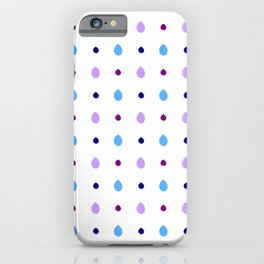 Leaf 11 blue iPhone Case