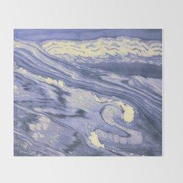 Lavender Marble With Cream Swirls Throw Blanket
