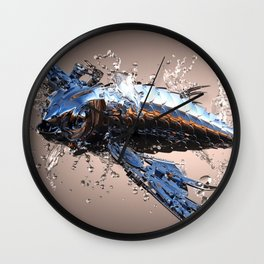 3D Model Metal Fish Wall Clock