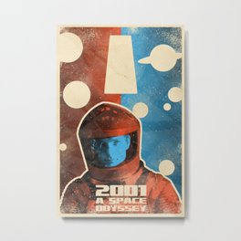 2001: A Space Odyssey Vintage Style Movie Poster Metal Print