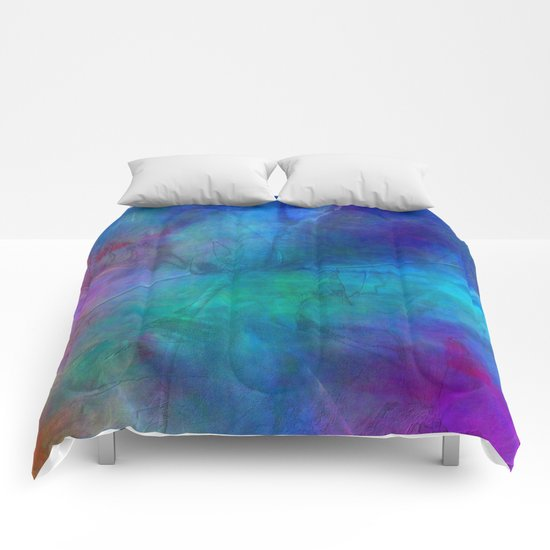 Texture abstract deep blue Comforters