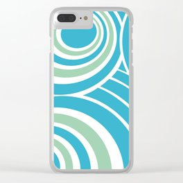 Turquoise and Mint Abstract Clear iPhone Case