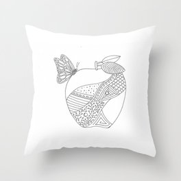 Apple home Throw Pillow