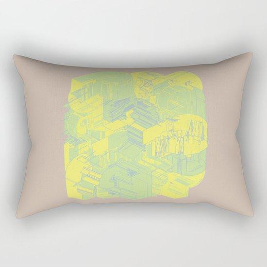 Typographic Wasteland Rectangular Pillow