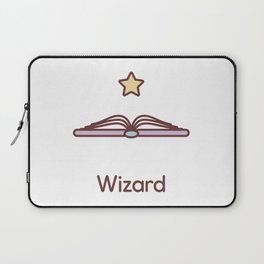 Cute Dungeons and Dragons Wizard class Laptop Sleeve